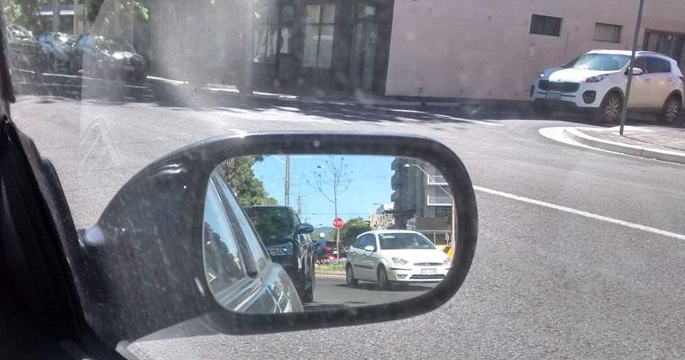driver side mirror hazards